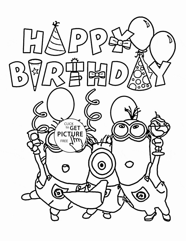 Printable Birthday Coloring Pages Archaicawful Happy Birthday Coloring Pages Unlimited Page With