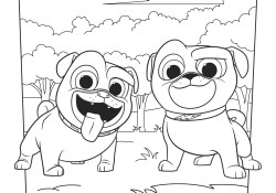 Puppy Dog Coloring Pages Bingo And Rolly Coloring Page Activity Disney Family