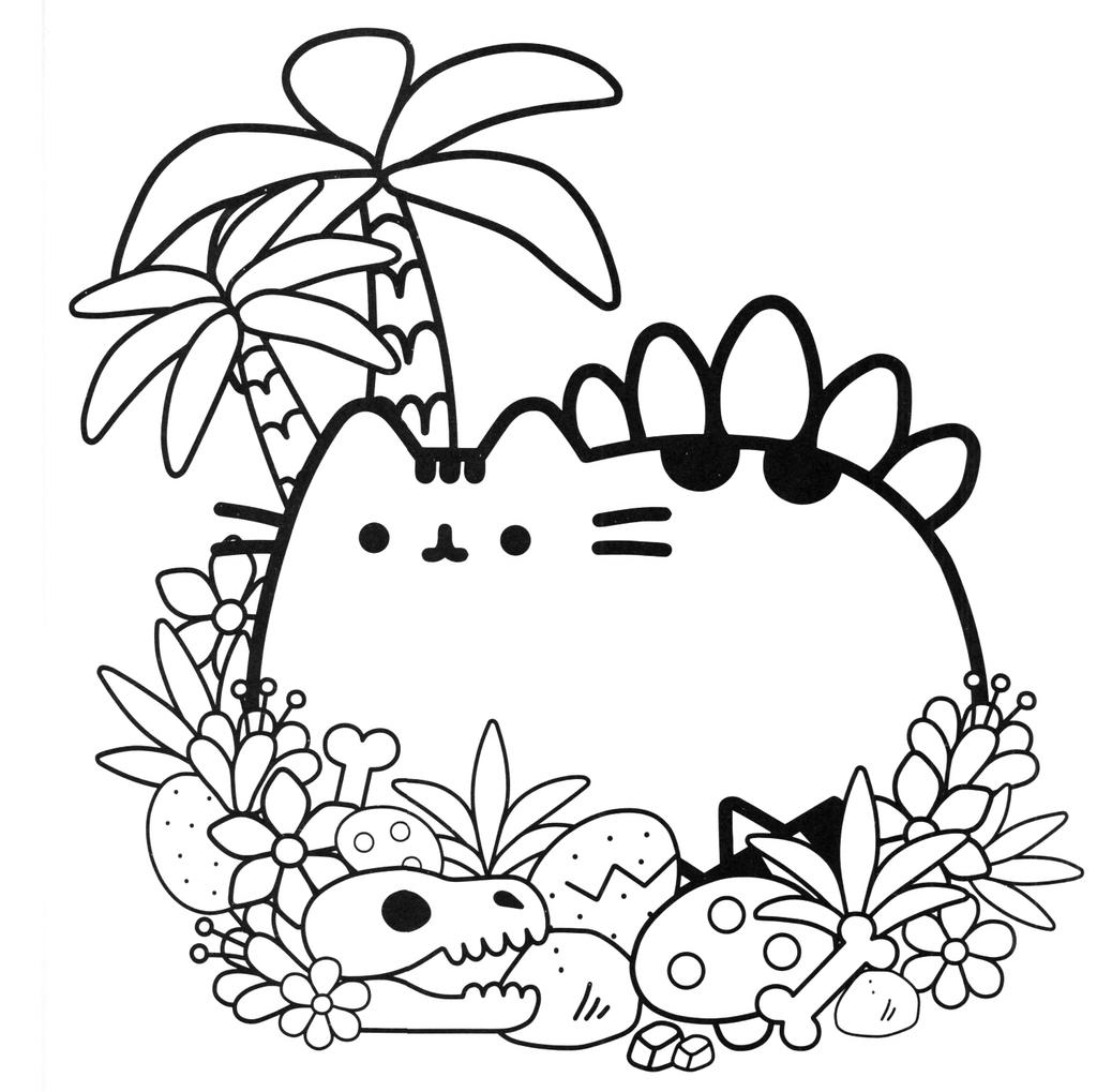 graphic about Cat Coloring Pages Printable named Kf8 Descargar Pusheen Cat Coloring Internet pages Pusheen Cat