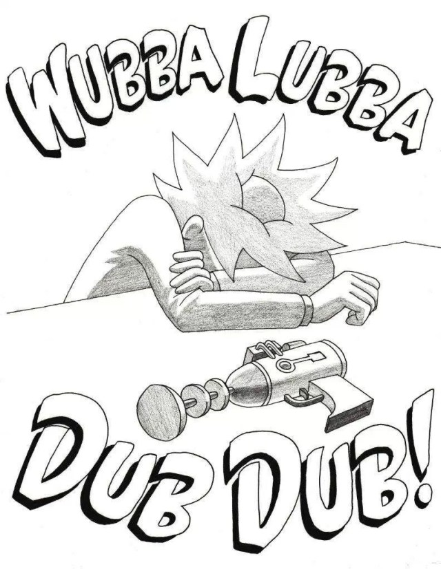 Rick And Morty Coloring Pages Rick And Morty Coloring Page Slibuje