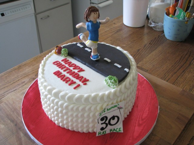 Runner Birthday Cake Runners Birthday Cakecentral