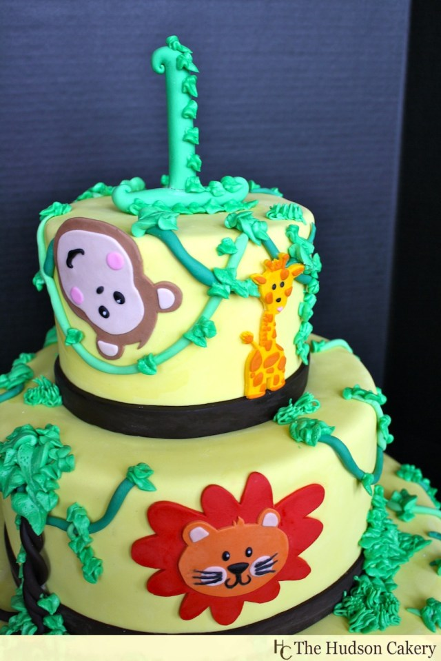 Safari Birthday Cake 1st Birthday Safari Cake Birthday The Hudson Cakery