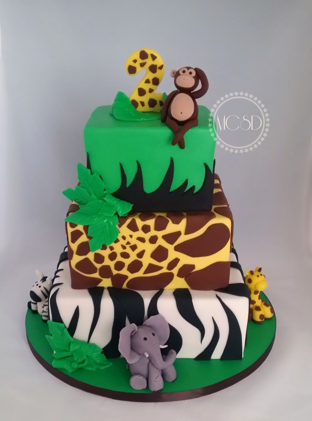 Safari Birthday Cake Safari Jungle Birthday Cake My Cakes 2017 Pinterest Birthday