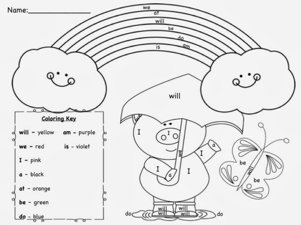 Sight Word Coloring Pages 20 Word Coloring Pages Selection Free ...