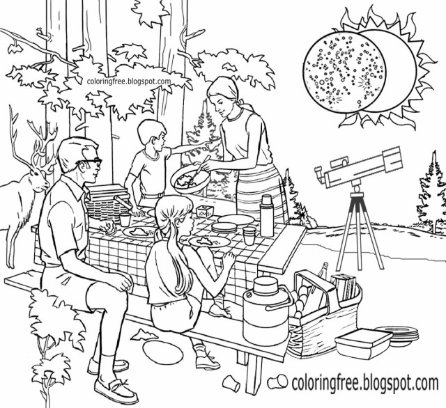 Solar Eclipse Coloring Page Eclipse Coloring Pages Smipvcu