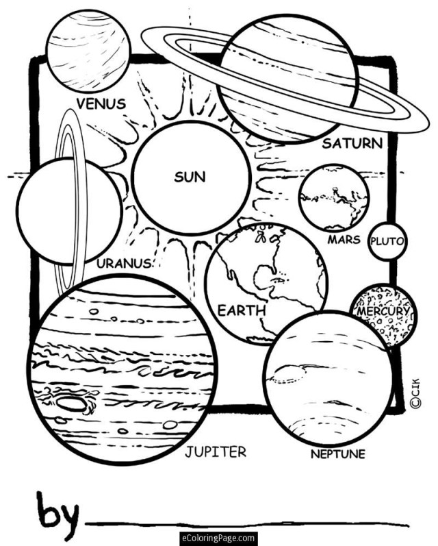 Solar Eclipse Coloring Page Solar System Coloring Pages At Getdrawings Free For Personal