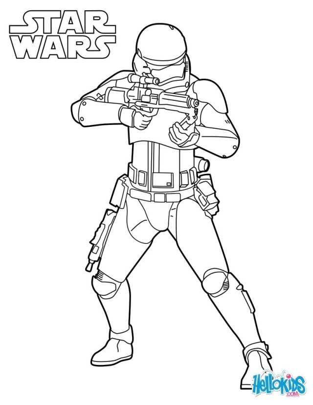 Stormtrooper Coloring Page Star Wars Stormtrooper Coloring Pages Hellokids