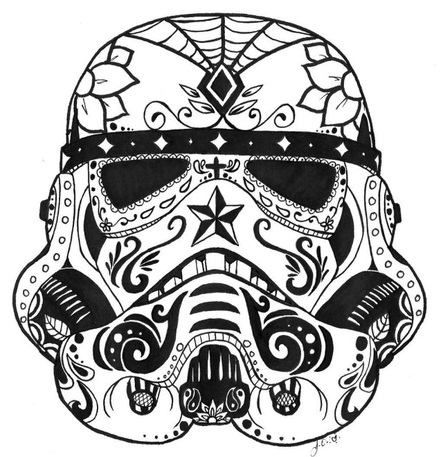 Stormtrooper Coloring Page Star Wars Stormtrooper Sugar Skull Coloring Page Cool Crafts New