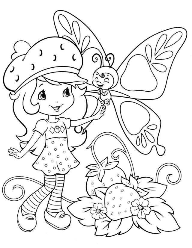 Strawberry Shortcake Coloring Pages Coloring Pages Strawberry Shortcake Coloring Pages Online Free For