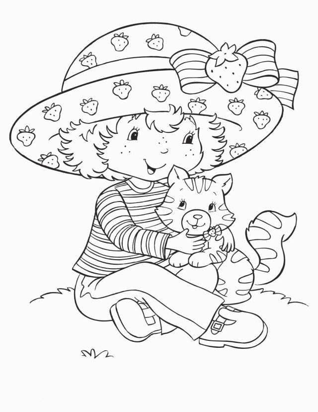 Strawberry Shortcake Coloring Pages Free Printable Strawberry Shortcake Coloring Pages For Kids For