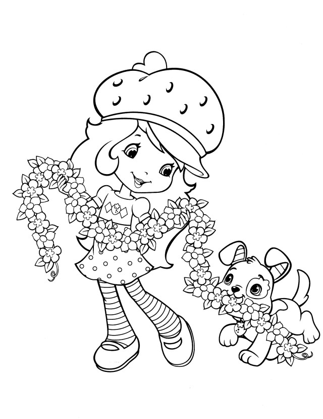 Strawberry Shortcake Coloring Pages Strawberry Shortcake Coloring Page Fresitas Pinterest Ruva
