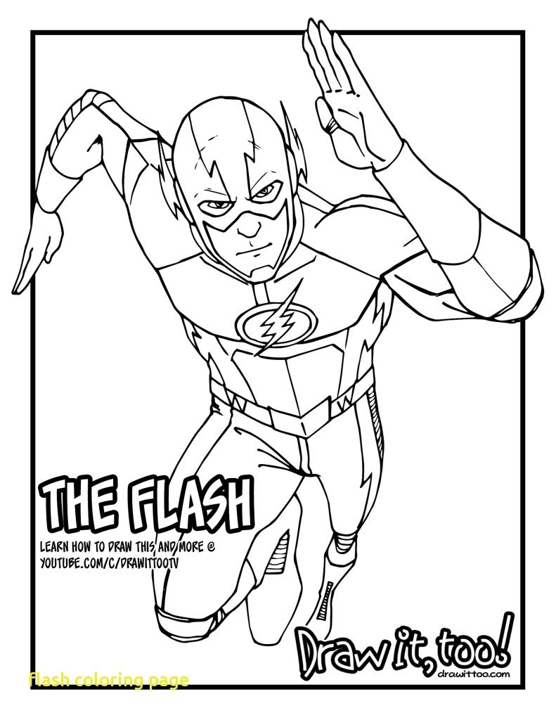Superhero Coloring Page Coloring Pages Free Printable Flash