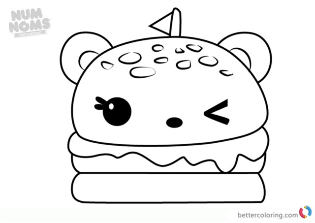 Taco Coloring Page Cat With A Cheeseburger Coloring Page Burger Snacks Animals Taco New