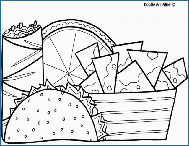 Taco Coloring Page Coloring Pages Doodle Alley Coloring Pages Excelent Taco Page Best