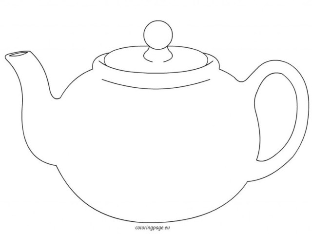 Teapot Coloring Page Teapot Printable Coloring Pages Betweenpietyanddesire