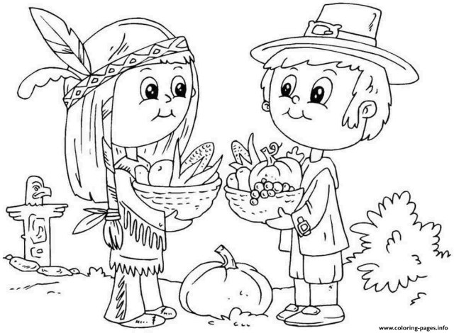 Thanksgiving Color Pages Thanksgiving Coloring Pages Pdf Bitslice