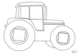 Tractor Coloring Pages Farm Tractor Coloring Page Free Printable Coloring Pages