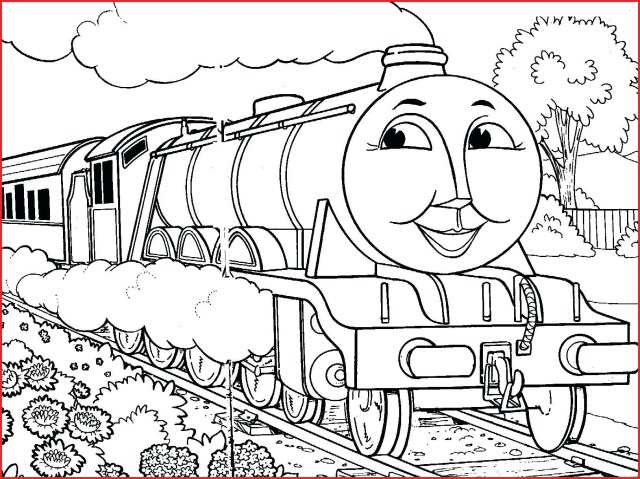 Train Coloring Page Thomas The Train Coloring Pages 109419 New Within Page Vietti