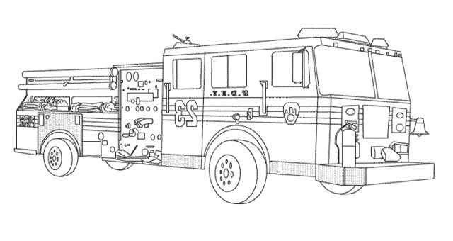 Truck Coloring Pages Fantastic Fire Truck Coloringage For Toddlersreschoolers Engine