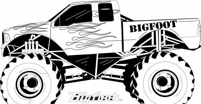 Truck Coloring Pages Monster Truck Coloring Pages To Print Futurama