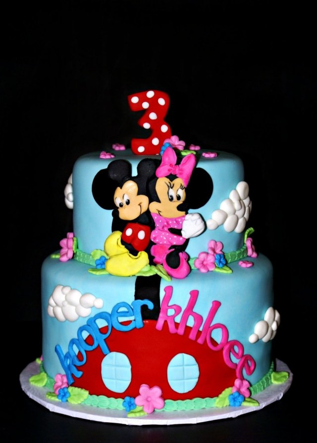 Twin Birthday Cakes Mickey And Minnie Twin Birthday Cakecentral