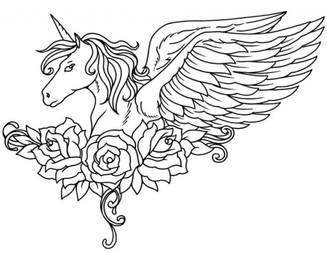 Unicorn Coloring Pages For Adults Unicorn Coloring Pages For Adults Colorings World