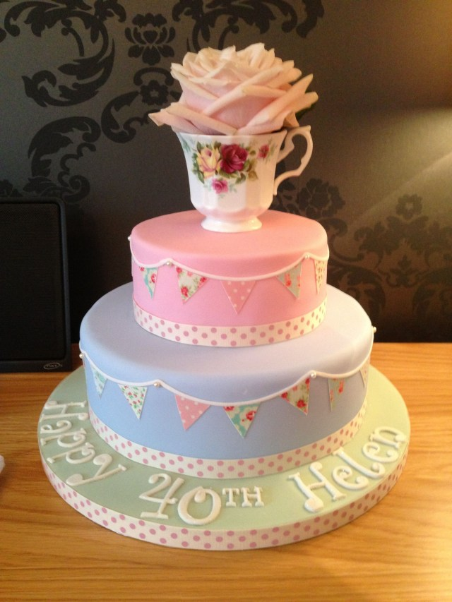 Vintage Birthday Cakes Cath Kidstonvintage Style Cake 40th Birthday Tea Party
