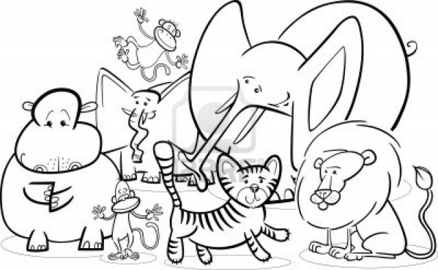 Zoo Animals Coloring Pages Lovely Zoo Animal Coloring Pages 6 New Sheets Cute Animals Colouring