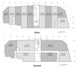Entity Developments Windemere Gate Plaza floorplans