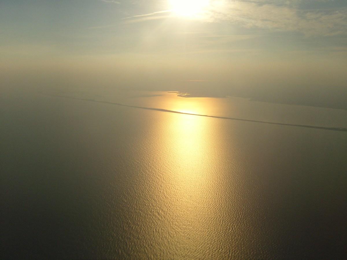 Sun over Great South Bay Long Island