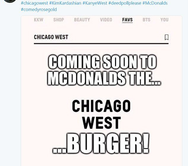 Funny memes emerge on social media after Kim K's baby name was revealed as Chicago West