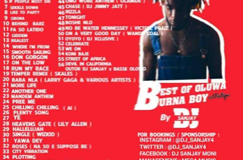 MIXTAPE : Best Of Burna Boy – Dj Sanjay