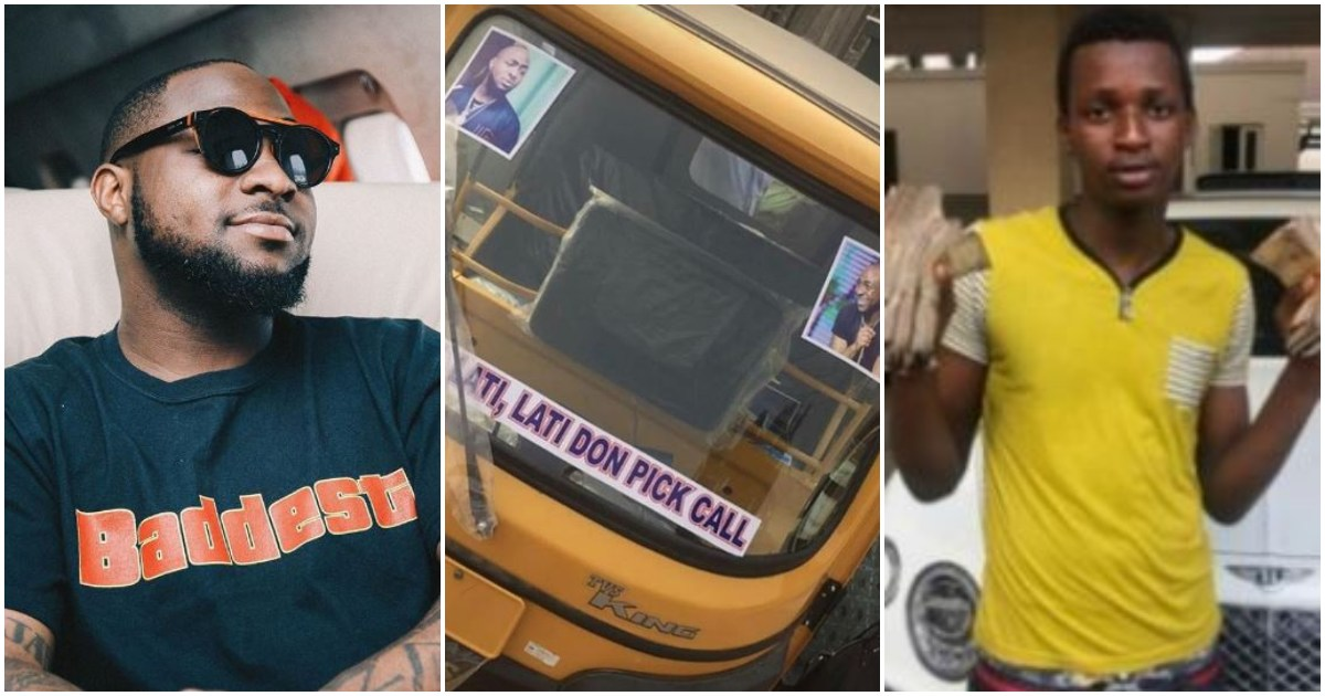 Davido praise boy he gave N1m for investing the money into keke Napep business