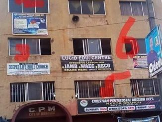 A Building in Nigeriawith 7 churches emerge online