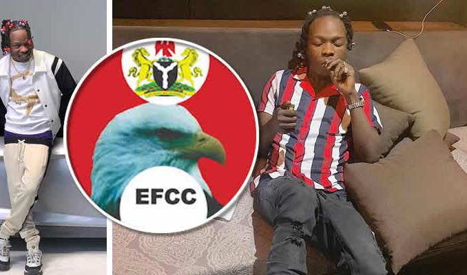 Boys storms EFCC office protesting for Naira Marley Release