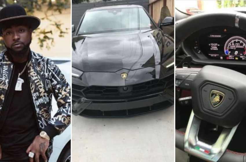 Davido buys Lamborghini worth N106m – asks fans if he should leave it abroad