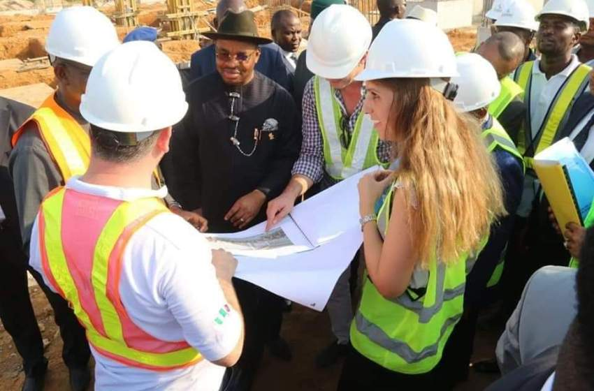 Governor Emmanuel Impressed With Progress At Airport Int'l Terminal In Uyo