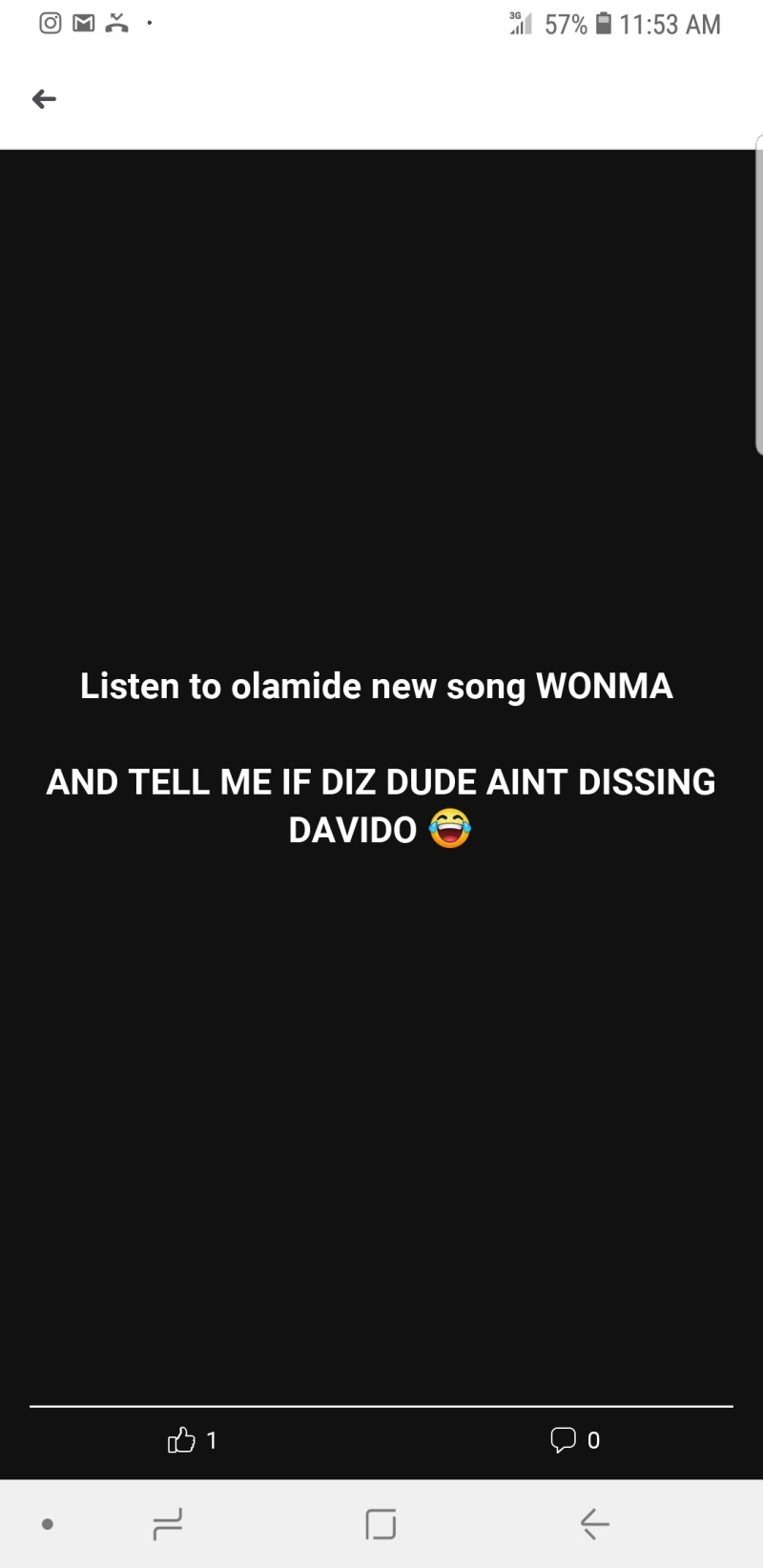 "Olamide's song ""Wonma"" is a diss track to Davido [Proof]"