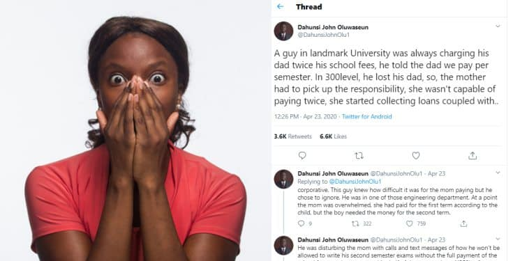 BUSTED!!! Woman discovers her son collects double his tuition fee at the university
