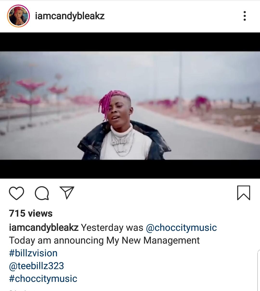 Candy Bleakz announce Teebillz as her manager