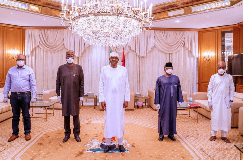 Buhari Assistant explains why President Buhari doesn't wear face mask