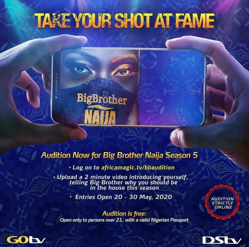 How to Audition For BBNaija Season 5