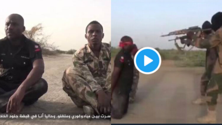 Boko Haram releases footage of the execution of captured policeman and soldier (Video)