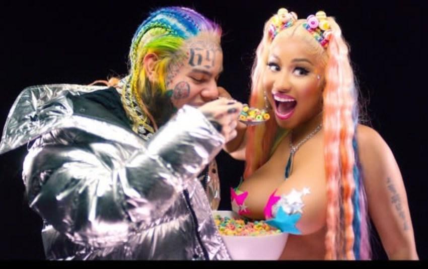 6ix9ine earns Nicki Minaj her first career No. 1 song on Billboard Chart