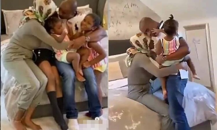 COVID-19: Viral Video of moment a doctor visited his family after months away