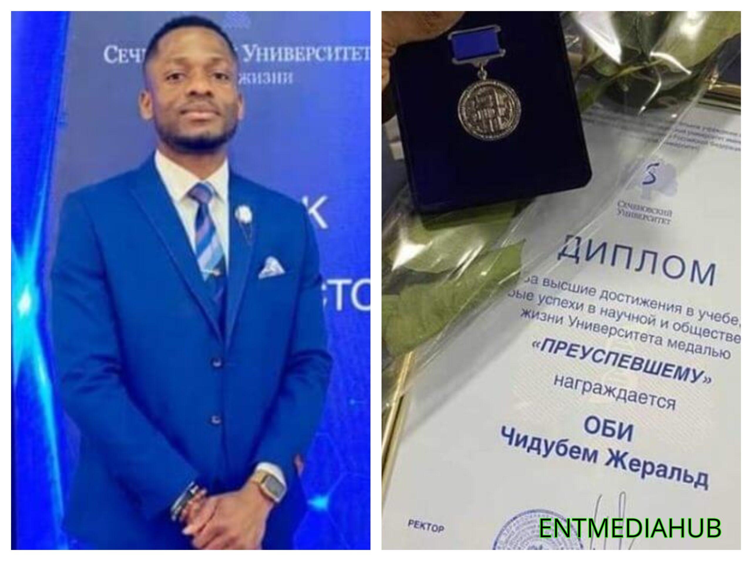 Nigerian man graduates with 5.0 GPA in a Russian university