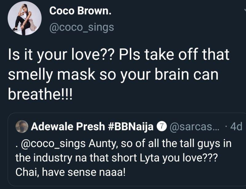 Lyta girlfriend Coco Brown