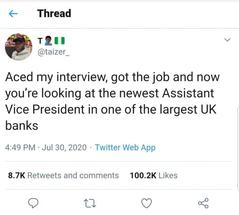 Nigerian man Assistant Vice President Uk