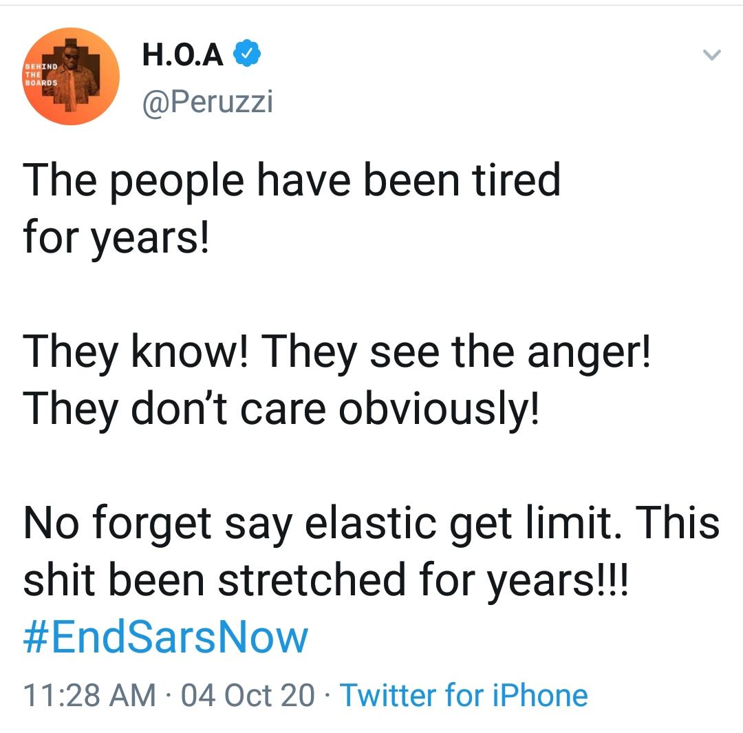 Nigerian celebrities end sars protest