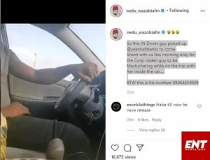 Nollywood Actress Yinka Banks Reveals In Driver Was M*sturbating During Her Car Trip.